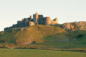 Carreg Cennen in winter