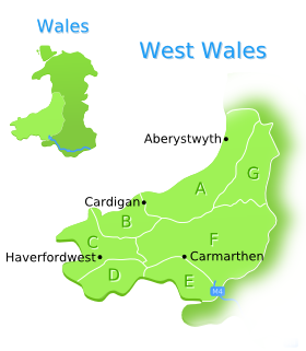 West Wales Mini Map