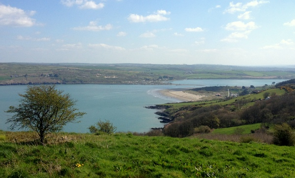 View of Poppit Sands and Teifi Estuary from Pembrokeshire Coastal Path