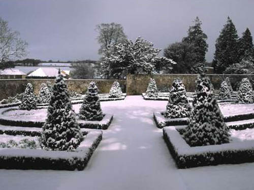 Aberglasny gardens in the snow