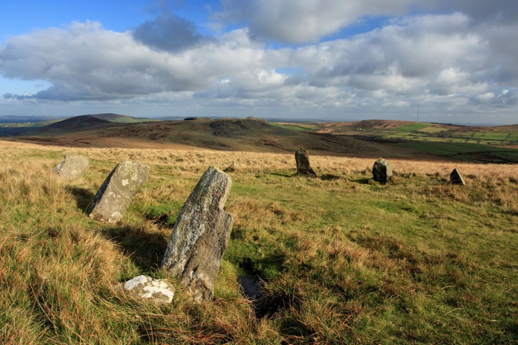 Stone circle on empty moorland