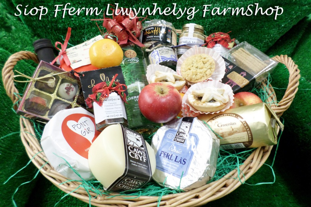 Basket containing Welsh speciality foods