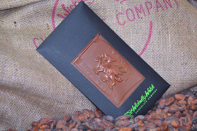 Wickedly Welsh dragon bar of chocolate