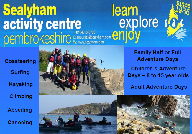 Sealyham Activity Centre list of activities available