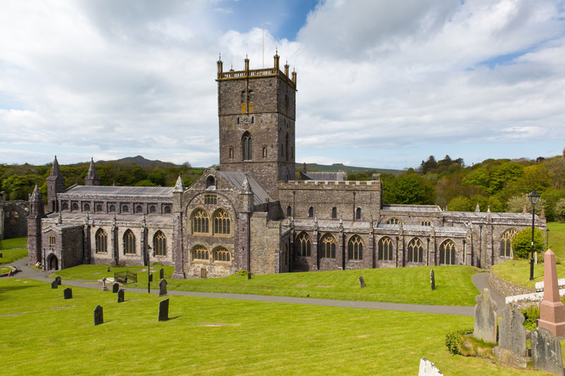 Exterior of St Davids Cathedral