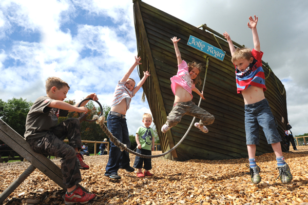 Oooh Argghh! Be a pirate in Folly Farm's Pirate Play Area