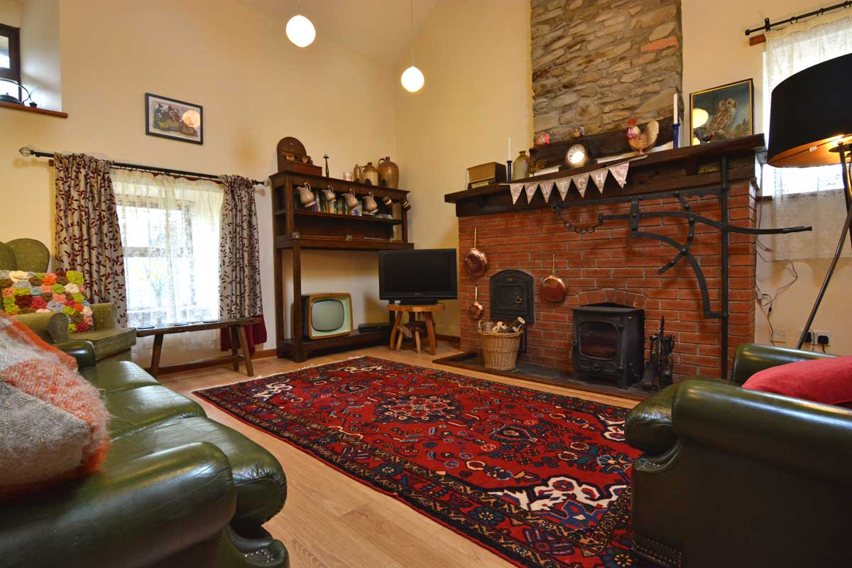 Living area at Ty Clyd