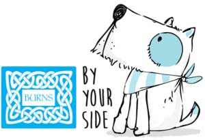 Burns by your side scheme logo
