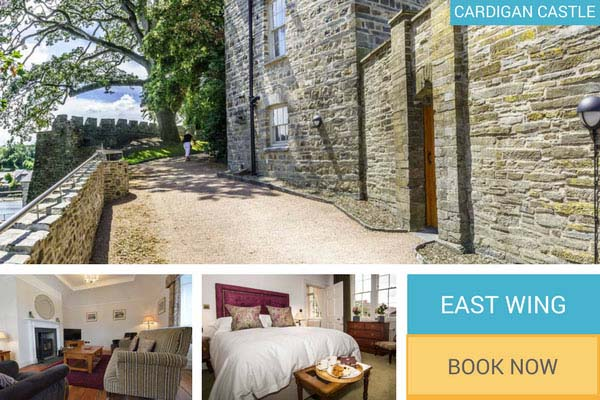 large self catering holiday cottage at Cardigan Castle - East Wing