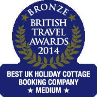 British Travel Awards 2014 Bronze Award - Best UK Holiday Cottage Booking Company Medium