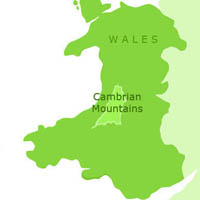 Cambrian Mountains Map
