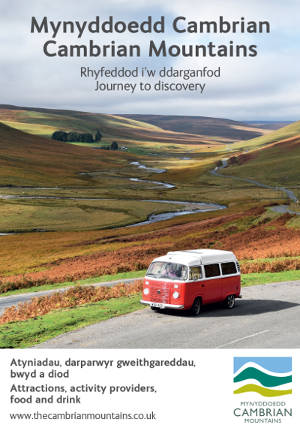 Campervan in Cambrian mountains