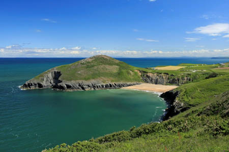 Mwnt and beach