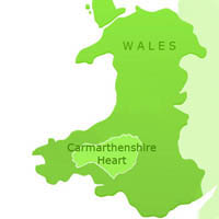Carmarthenshire Heart Map