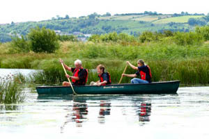 Canoeing at the Wetland Centre