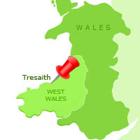 Map of Tresaith in Wales