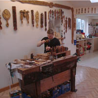 Photo of The Lovespoon Workshop.